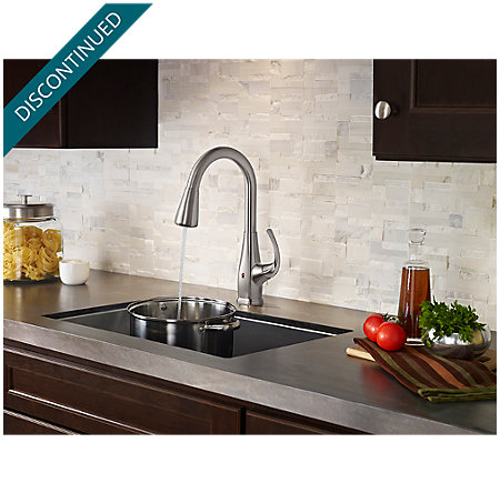 Stainless Steel Selia Touch-Free Pull-Down Kitchen Faucet with React™ - F-529-ESLS - 9