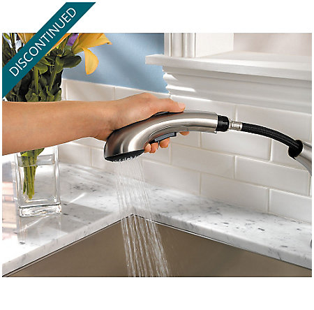 Stainless Steel Clairmont 1-Handle, Pull-Out Kitchen Faucet - F-534-7CMS - 6