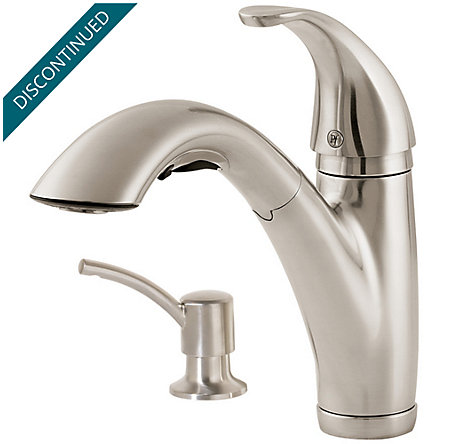 Stainless Steel Parisa 1-Handle, Pull-Out Kitchen Faucet - F-534-7PSS - 1