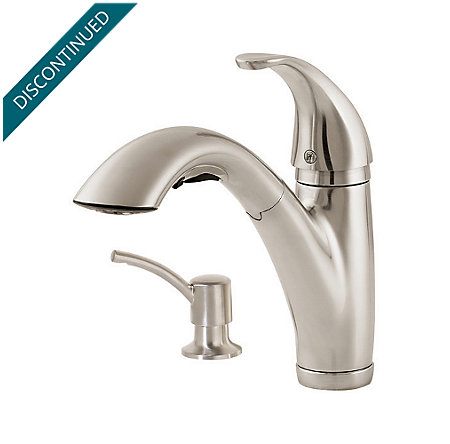 Stainless Steel Parisa 1-Handle, Pull-Out Kitchen Faucet - F-534-7PSS - 2