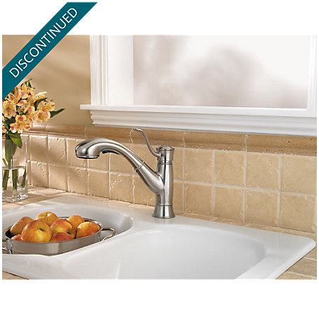 Stainless Steel Picardy 1-Handle, Pull-Out Kitchen Faucet - F-534-7RDS - 6