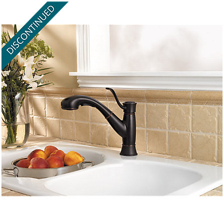 Tuscan Bronze Picardy 1-Handle, Pull-Out Kitchen Faucet - F-534-7RDY - 4