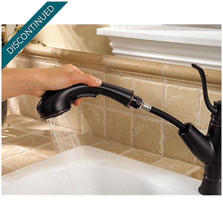 Tuscan Bronze Picardy 1-Handle, Pull-Out Kitchen Faucet - F-534-7RDY - 6