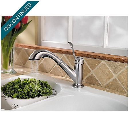 Stainless Steel Bixby 1-Handle, Pull-Out Kitchen Faucet - F-538-5LCS - 5