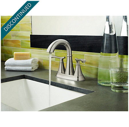 Brushed Nickel Ideal Centerset Bath Faucet - LF-548-IDKK - 2