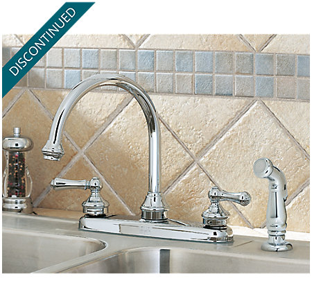Polished Chrome Savannah 2-Handle Kitchen Faucet - F-8H6-85BC - 3