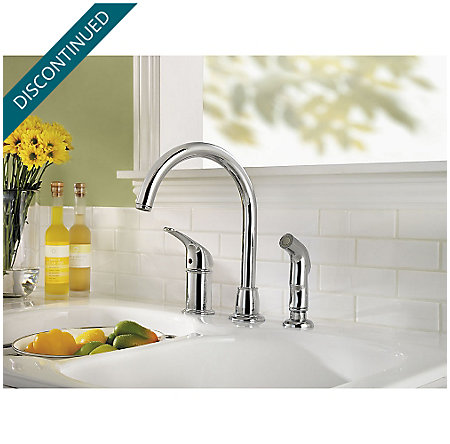 Polished Chrome Cagney 1-Handle Kitchen Faucet - F-WK1-680C - 2