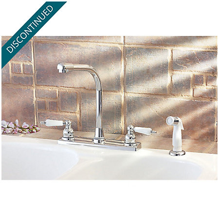 Polished Chrome Christie 2-Handle Kitchen Faucet - F-WK2-740C - 2