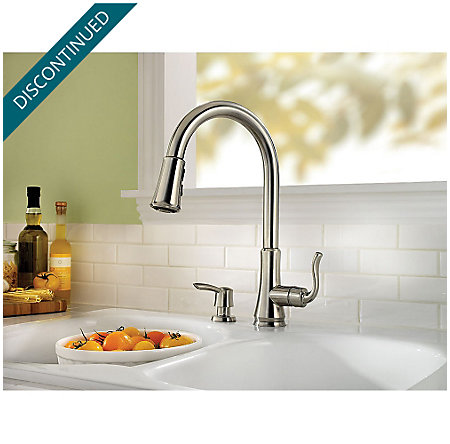 Stainless Steel Cagney 1-Handle, Pull-Down Kitchen Faucet - F-529-7CGS - 3