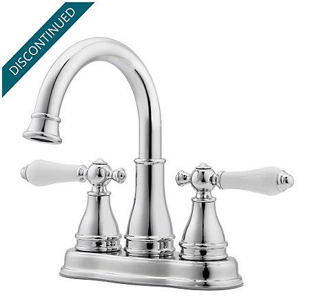 Polished Chrome Sonterra Centerset Bath Faucet F Wl2 45pc 1