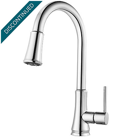 Polished Chrome Pfirst Series Pull-Down Kitchen Faucet - G-529-PFCC - 1