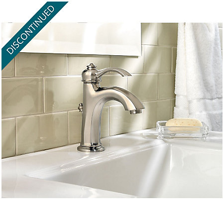 Brushed Nickel Portola Single Control, Centerset Bath Faucet - LG42-RP0K - 3