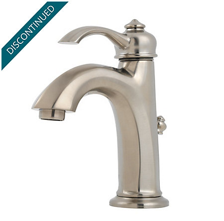 Brushed Nickel Portola Single Control, Centerset Bath Faucet - LG42-RP0K - 1