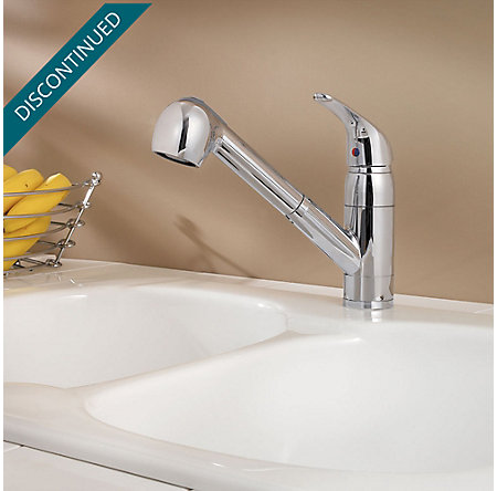 Polished Chrome Pfirst Series 1-Handle, Pull-out Kitchen Faucet - 133-10CC - 3
