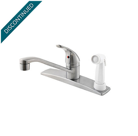 Stainless Steel Pfirst Series 1-Handle Kitchen Faucet - G134-344S - 1