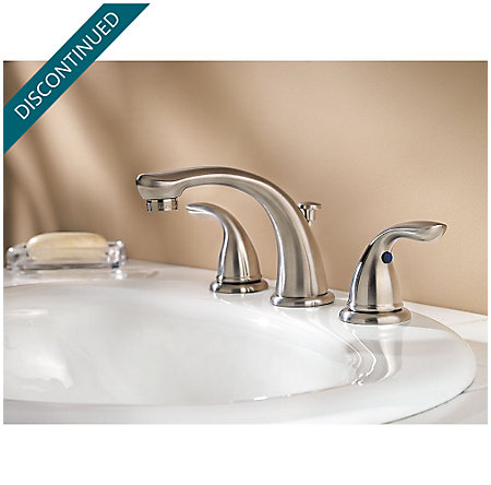 Brushed Nickel Pfirst Series Widespread Bath Faucet - 149-610K - 2