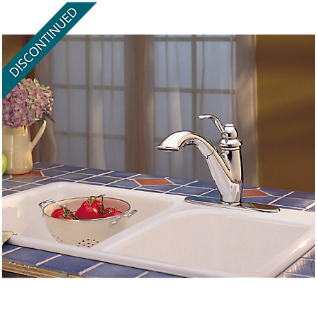 Polished Chrome Marielle 1-Handle, Pull-Out Kitchen Faucet - T532-7CC - 7
