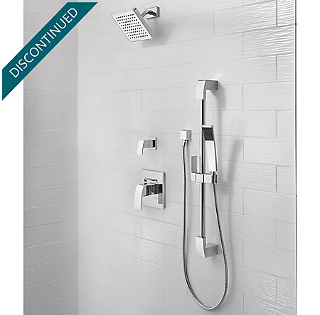 Polished Chrome Kenzo 1-Handle Shower, Trim Only - G89-7DFC - 2
