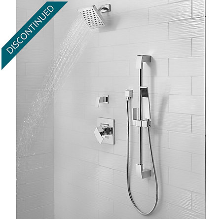 Polished Chrome Kenzo 1-Handle Shower, Trim Only - G89-7DFC - 3