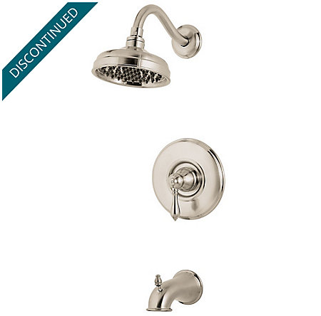 Brushed Nickel Marielle 1-Handle Tub & Shower, Trim Only - G89-8MBK - 1
