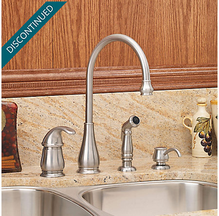 Stainless Steel Treviso 1-Handle Kitchen Faucet - F-026-4DSS - 2