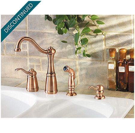 Antique Copper Marielle 1-Handle Kitchen Faucet - GT26-4NRR ...