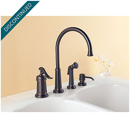 Tuscan Bronze Ashfield 1-Handle Kitchen Faucet - GT26-4YPY - 2