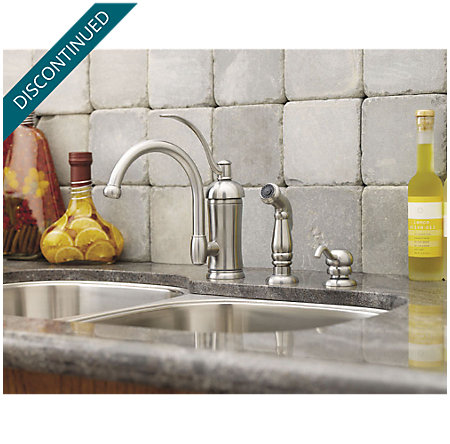 Stainless Steel Amherst 1-Handle Kitchen Faucet - GT34-4HAS - 2