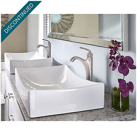 Brushed Nickel Arterra Single Handle Vessel Faucet - GT40-DE0K - 2