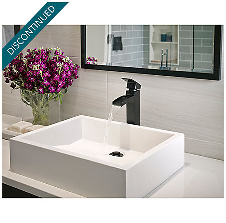 Black Kenzo Single Handle Vessel Faucet - GT40-DF0B - 3
