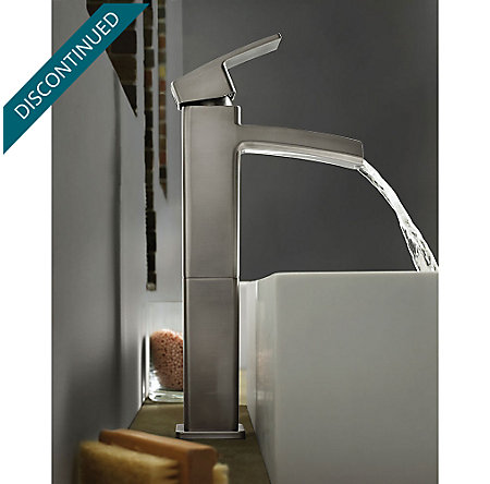 Brushed Nickel Kenzo Single Handle Vessel Faucet - GT40-DF0K - 2