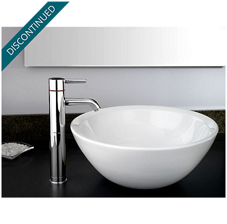 Polished Chrome Contempra Single Handle Vessel Faucet - GT40-NC00 - 2