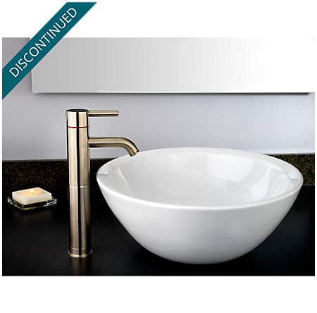 Brushed Nickel Contempra Single Handle Vessel Faucet - GT40-NK00 - 2