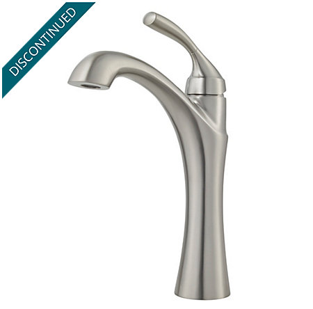 Brushed Nickel Iyla Single Handle Vessel Faucet - GT40-TR0K - 1