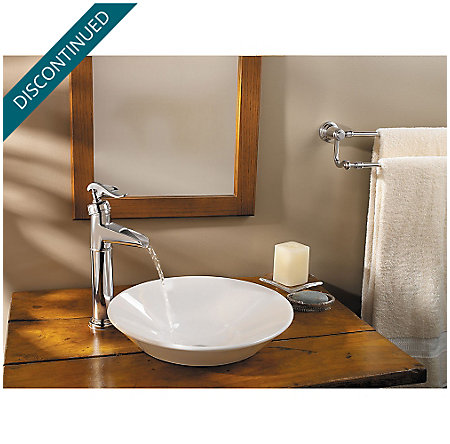 Polished Chrome Ashfield Single Handle Vessel Faucet - GT40-YP0C - 2