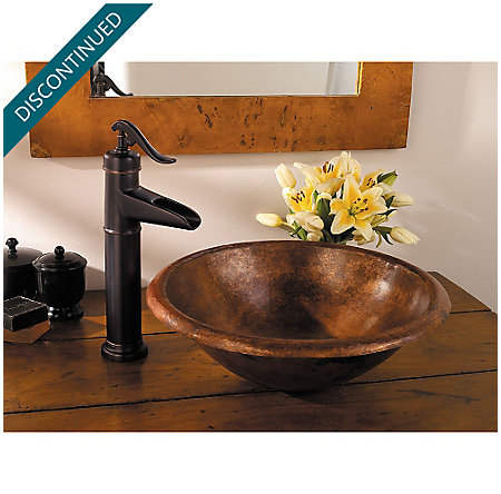 Tuscan Bronze Ashfield Single Handle Vessel Faucet - GT40-YP0Y - 4