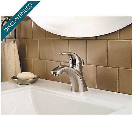 Brushed Nickel Parisa Single Control, Centerset Bath Faucet - GT42-AMCK - 3