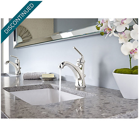 Polished Nickel Arterra Single Control Lavatory Faucet - GT42-DE0D - 3