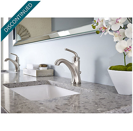 Brushed Nickel Arterra Single Control Lavatory Faucet - GT42-DE0K - 2