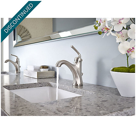 Brushed Nickel Arterra Single Control Lavatory Faucet - GT42-DE0K - 3