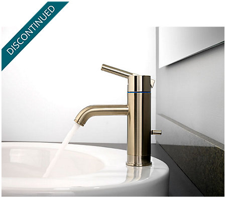 Brushed Nickel Contempra Single Control, Centerset Bath Faucet ...