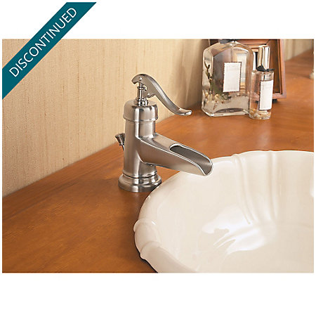Brushed Nickel Ashfield Single Control, Centerset Bath Faucet - GT42-YP0K - 5