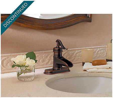 Rustic Bronze Ashfield Single Control, Centerset Bath Faucet - GT42-YP0U - 4