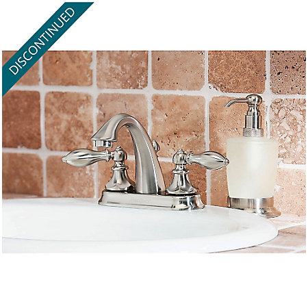 Brushed Nickel Catalina Centerset Bath Faucet - GT48-E0BK - 2