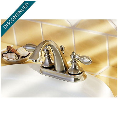 Brushed Nickel Catalina Centerset Bath Faucet - GT48-E0BK - 4