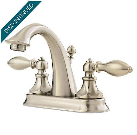 Brushed Nickel Catalina Centerset Bath Faucet Gt48 E0bk 1