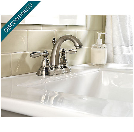Brushed Nickel Portola Centerset Bath Faucet - LG48-RP0K - 2