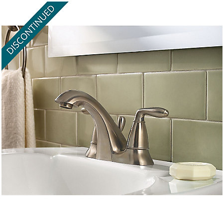 Brushed Nickel Serrano Centerset Bath Faucet - GT48-SR0K - 2