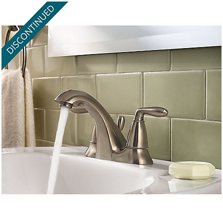 Brushed Nickel Serrano Centerset Bath Faucet - GT48-SR0K - 3