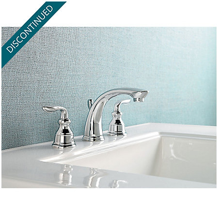 Polished Chrome Avalon Widespread Bath Faucet - GT49-CB0C - 2
